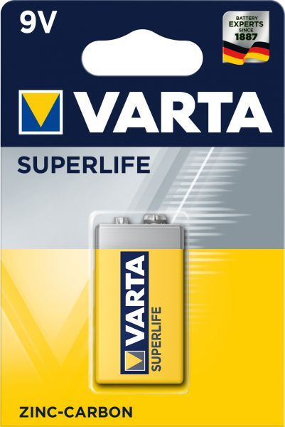 Baterie 9 Volt Varta - Superlife blistr -